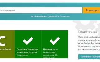 Сервис проверки SSL сертификатов