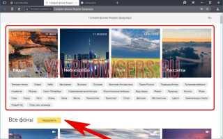 Как изменить тему в ЯндексБраузере: советы, инструкции, видеоуроки