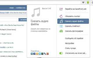 Дополнения для скачивания музыки через Yandex Browser