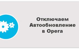 Как отключить обновление «Оперы»: советы и рекомендации