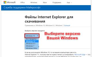 Обновление Internet Explorer для Скайпа