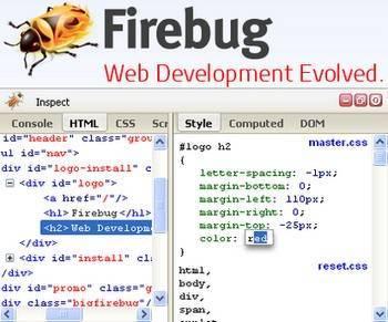 Google Chrome, расширение Firebug Lite, редактирование и отладка веб-страниц